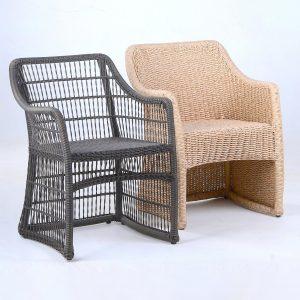 bàn ghế đan dây ngoài trời
