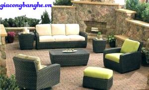 bộ bàn ghế sofa đan mây