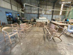 sản xuất nội thất bàn ghế khung gỗ