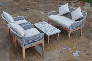 Bộ bàn ghế đan dây dù