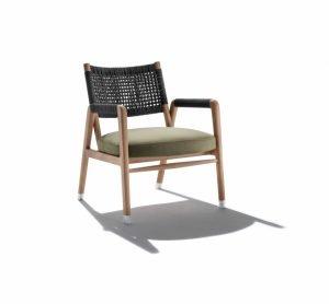 Bàn ghế đan dây dù ngoài trời Ortigia