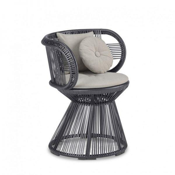 ghế đan dây nhựa giả mây