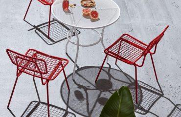 bộ bàn ghế sắt sơn tĩnh điện ngoài trời