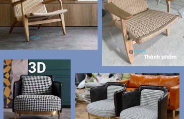 sản xuất nột thất bàn ghế theo bản vẽ 3D