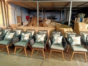xưởng sản xuất ghế ăn đan mây