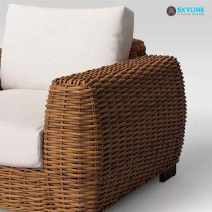 ghế bành đan dây nhựa giả mây