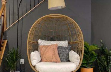 ghế trứng decor