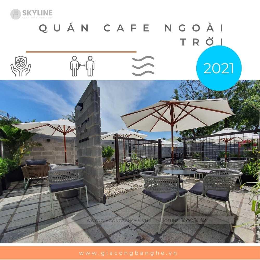 quán cafe ngoài trời